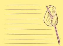 Notas de la flor del punto Imagen de archivo