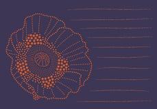Notas de la flor del punto Imagenes de archivo