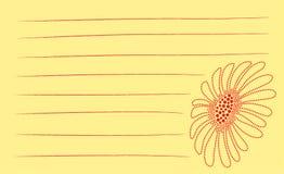 Notas de la flor del punto Fotografía de archivo