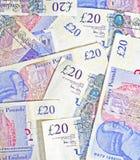 Notas de la libra £20 Fotografía de archivo