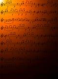 Notas de la música. Fotografía de archivo