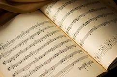 Notas de la música Imagen de archivo