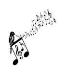 Notas de la música libre illustration