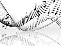 Notas de la música Fotografía de archivo libre de regalías