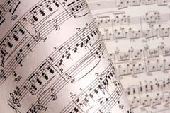 Notas de la música Fotos de archivo