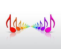 Notas de la música del arco iris Imagen de archivo libre de regalías