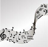 Notas de la música del vector Fotos de archivo