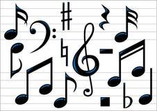 Notas de la música del vector Fotos de archivo libres de regalías
