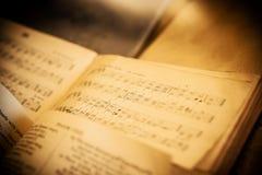 Notas de la música del vintage Imagen de archivo