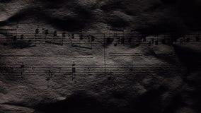 Notas de la música del vintage, cierre para arriba almacen de metraje de vídeo
