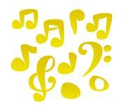 Notas de la música de la historieta del vector Foto de archivo