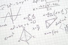 Notas de la matemáticas fotografía de archivo