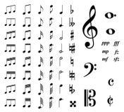 Notas de la música Fotografía de archivo