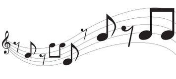 Notas de la música Foto de archivo