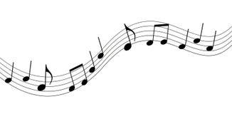 Notas de la música Imagen de archivo libre de regalías