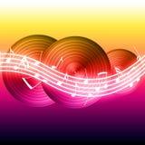 Notas de la música que fluyen Imágenes de archivo libres de regalías