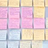 Notas de la revisión Foto de archivo libre de regalías