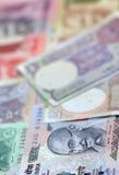 Notas de la rupia india Foto de archivo libre de regalías
