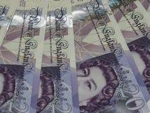 Notas de 20 libras, Reino Unido em Londres Fotografia de Stock