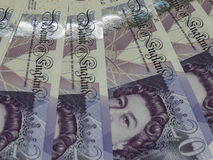 Notas de 20 libras, Reino Unido en Londres Fotografía de archivo