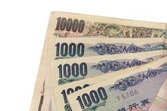 Notas de los Yenes japoneses Fotografía de archivo libre de regalías