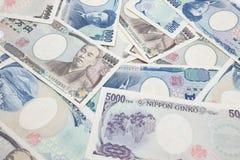 Notas de los Yenes japoneses Imagen de archivo libre de regalías