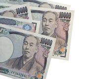 Notas de los Yenes japoneses moneda de Japón Fotografía de archivo libre de regalías