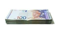 Notas de Malasia RM100 Foto de archivo libre de regalías