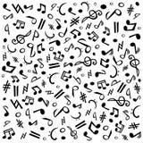 Notas de Musik ilustração royalty free