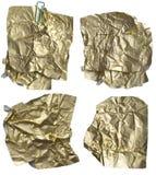 Notas de oro Imagen de archivo