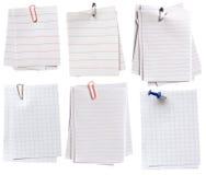 Notas de papel Foto de archivo