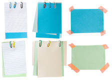 Notas de papel Imagen de archivo