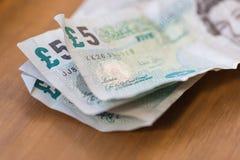 Notas de papel amarrotadas fotos de stock royalty free