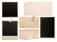 Notas de papel de la vendimia Imagen de archivo libre de regalías