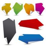 Notas de papel del color Stock de ilustración