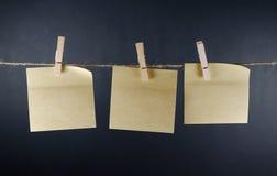 Notas de papel vacías Fotos de archivo