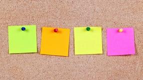 Notas de post-it Imágenes de archivo libres de regalías