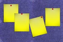 Notas de post-it foto de archivo