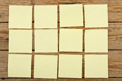 Notas de post-it Imagenes de archivo