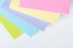 Notas de post-it coloreadas multi Imagenes de archivo