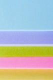 Notas de post-it coloreadas multi Imagen de archivo