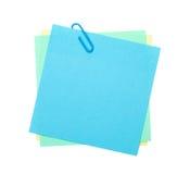 Notas de post-it coloridas com grampo Imagem de Stock