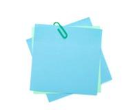 Notas de post-it coloridas com grampo Imagem de Stock Royalty Free