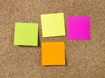 Notas de post-it das definições da placa do ano novo com espaço da cópia Imagem de Stock
