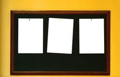 Notas de post-it em branco Fotografia de Stock