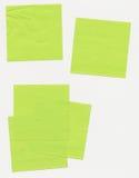 Notas de post-it - papel sujetado con cinta adhesiva foto de archivo libre de regalías