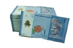 Notas de uma moeda do ringgit imagem de stock royalty free