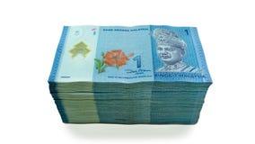 Notas de una moneda del ringgit Foto de archivo libre de regalías