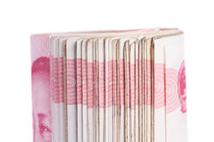 Notas de Yuan. Dinero en circulación de China Foto de archivo libre de regalías