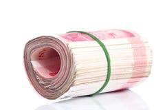 Notas de Yuan. Moeda de China Foto de Stock